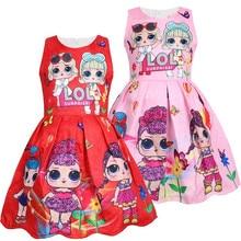 Summer Sleeveless Party Tutu Girls Dresses Cartoon Print Fashion New Arrival Children Wedding Costume Kids Girl Dresses
