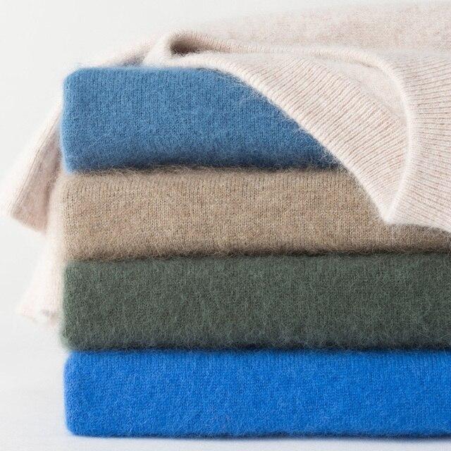 Zocept Winter Men sweter norek z kaszmiru swetry dla człowieka Casual O Neck Warm Fit odzież nowa odzież męska dzianinowy sweter topy