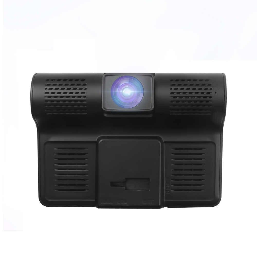 Grabadora de vídeo para coche Full HD 1080P Pantalla de 4 pulgadas 3 lentes de cámara visión nocturna Sensor de movimiento coche DVR grabador de datos para automóviles