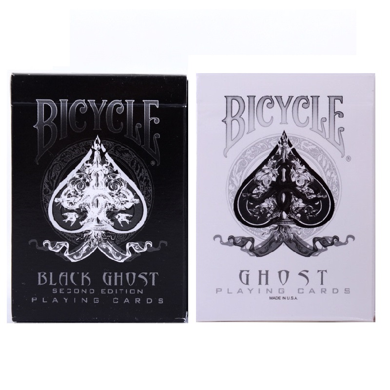 Bicycle Ghost Deck Ellusionist Black/White Playing Cards Collectable Poker Magic Tricks Props For Professional Magician