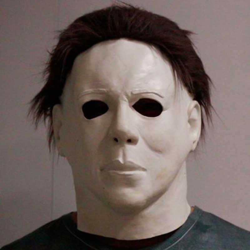 Маска «Майкл Майерс» Хэллоуин 2020 фильм ужасов Косплей Взрослый латексный Полнолицевой шлем на Хэллоуин-вечеринку, страшный реквизит