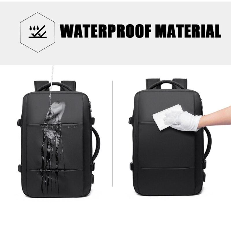 Bange mode homme sac à dos étanche 15.6 pouces ordinateur portable USB Recharge sac à dos multi-couche haute capacité voyage homme sac à dos - 4
