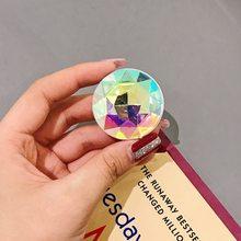 Popular glitter bling colorido luxo diamante dedo aperto abs anel suporte dobrável telefone suportes de montagem para iphone