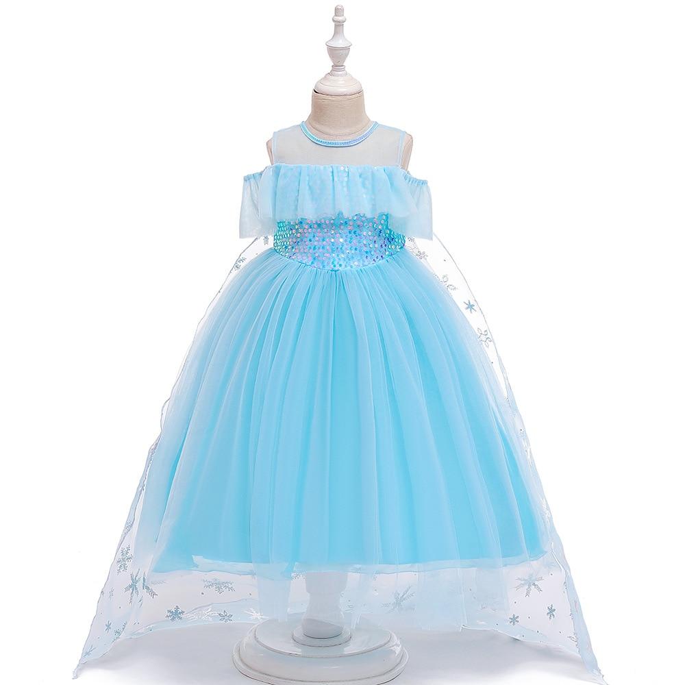 H39486cea4f4a49408ae93e228d1b1a7bj Unicorn Dress Birthday Kids Dresses For Girls Costume Halloween Christmas Dress Children Party Princess Dresses Elsa Cinderella