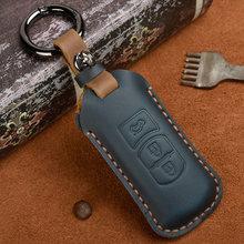 Leather Car Key Case Cover For Mazda2 mazda 3 mazda 5 mazda 6 CX-3 CX-4 CX-5 CX-7 CX-9 Atenza Axela MX5