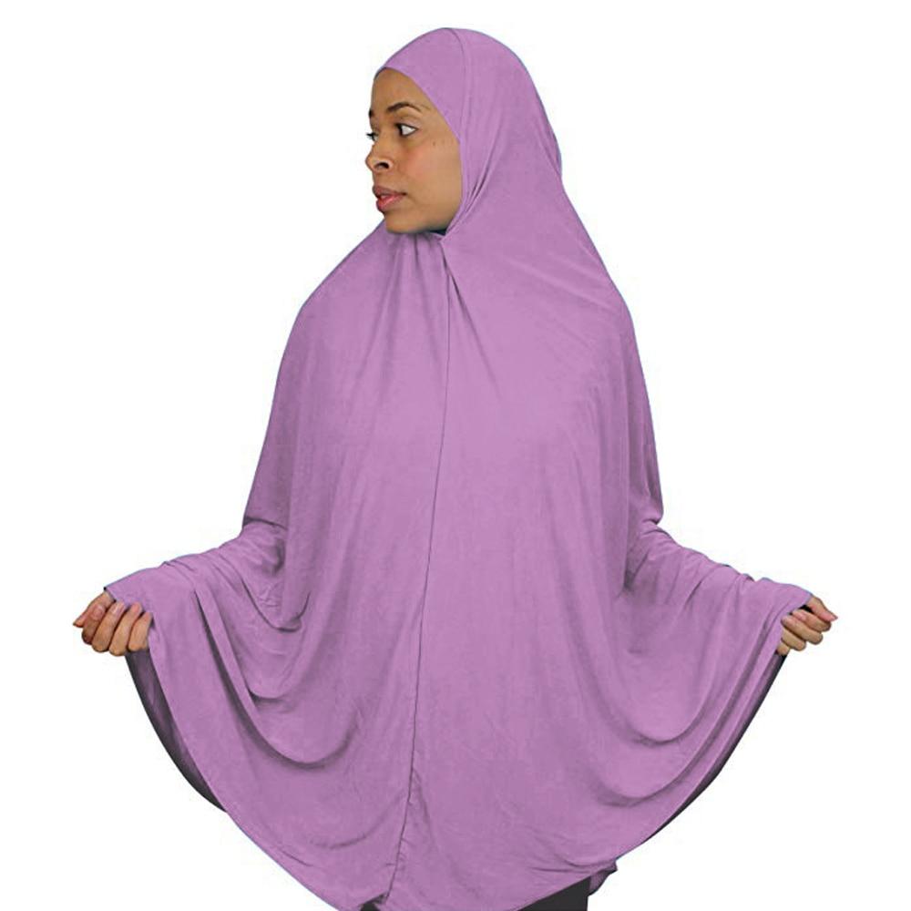 Full Cover Muslim Women Prayer Dress Niquab Scarf Khimar Hijab Islamic Large Overhead Clothes Jilbab Ramadan Arab Middle East