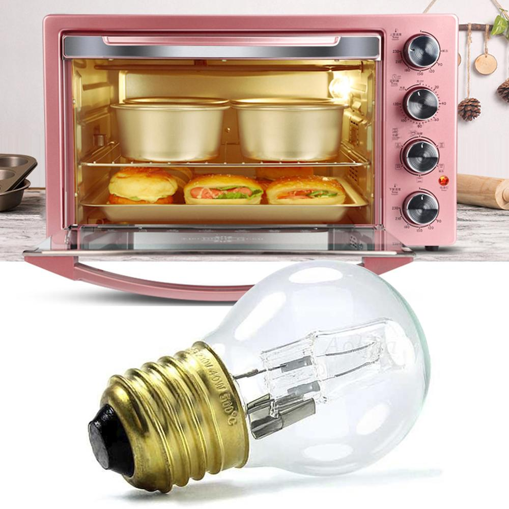 E27 40W Oven Cooker Bulb Lamp Refrigerator Light Heat Resistant Light Warm White 200-250V 500C For Wall Lamp Sewing Machine