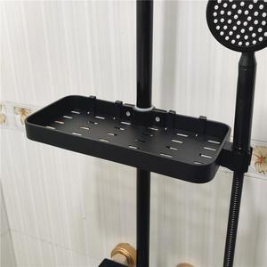 Полка для хранения шампуня для ванной комнаты, подъемная штанга, прямоугольная полка для душа, полка для хранения ванной комнаты, домашняя п...