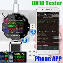 Ud18 usb 3.0 18in1 usb tester app dc digital voltímetro amperímetro voltimetro voltagem banco de potência detector volt medidor médico elétrico
