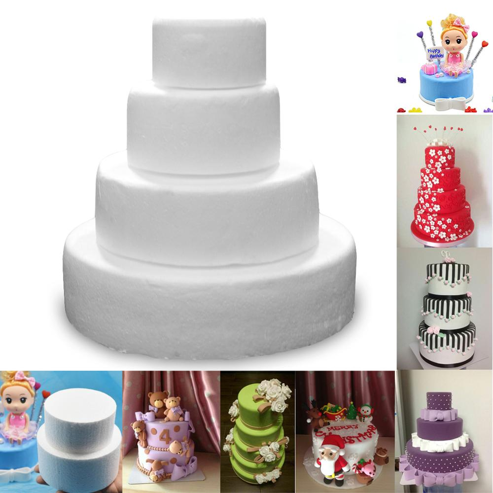 Handmade Round Foam Polystyrene Cake Dummy Sugarcraft Flower Decor Practice Mold
