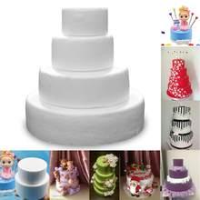 Modelagem de bolo em espuma para decoração, poliestireno, festa artesanal, faça você mesmo, acessórios de decoração de casamento, 1 peça