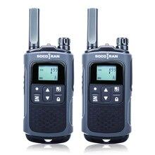 Walky talky recarregável longa distância t80 pmr walkie talkie com código de privacidade vox pmr446 ham licença rádio livre em dois sentidos
