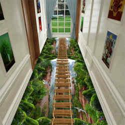 New 3D Fun Adventure Corridor Doormat Bedroom Kitchen Floor Mat Decoration Game Doormat Rug Idyllic Carpet Living Room