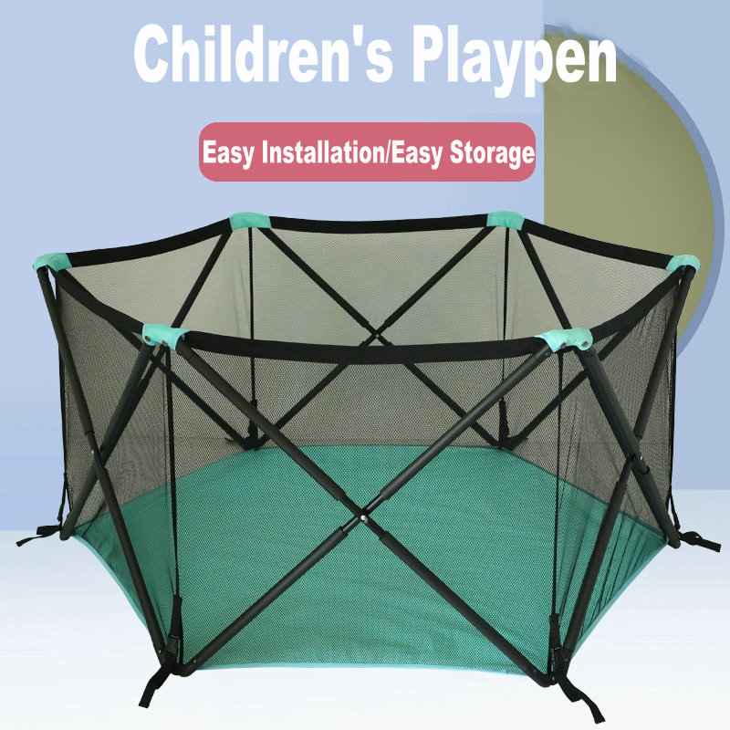 Children Playpen Baby Toy Folding Fence Game Fence  Portable Indoor And Outdoor Baby Safety Fence Crawling Mat Playground