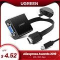 Ugreen adaptador de HDMI a VGA para PS4 macho a famoso convertidor 1080P VGA a HDMI adaptador con 3,5 Jack para TV Box VGA a HDMI