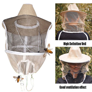 Pszczelarski kapelusz z siatką moskitiera owad siatkowy ochraniacz na twarz maska-M25 tanie i dobre opinie Pszczelarstwo Kapelusze Other