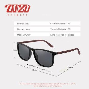 20/20 Design Brand New Polarized Sunglasses Men Fashion Trend Accessory Male Eyewear Sun Glasses Oculos Gafas PL400 4