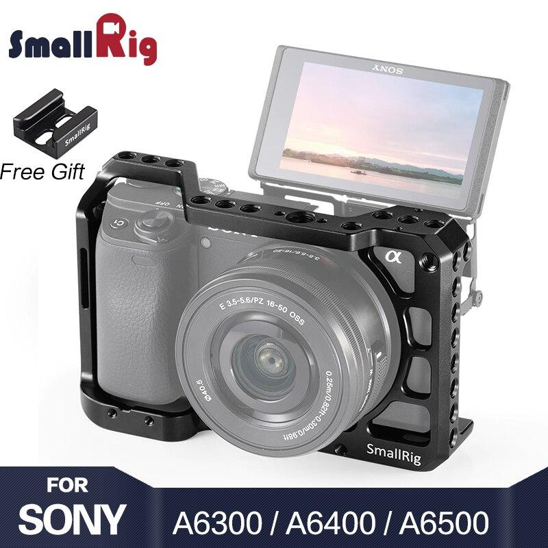 SmallRig A6400 Caméra Cage pour Sony Alpha A6300/A6400/A6500/A6100 Caméra w/1/4 3/8 Trous filetés pour Vlog bricolage Option 2310
