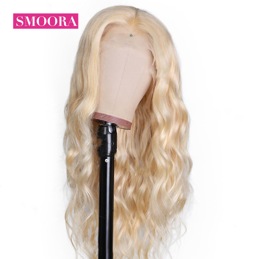 613 Lace Front Honey Blonde Wig  Body Wave Wigs  150% Density  Transparent 13x4 Lace Front Wig 4