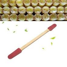 500 pçs por atacado apicultura royal jelly mel leite abelha caneta madeira picking vara portátil ferramentas de jardim abelhas suprimentos