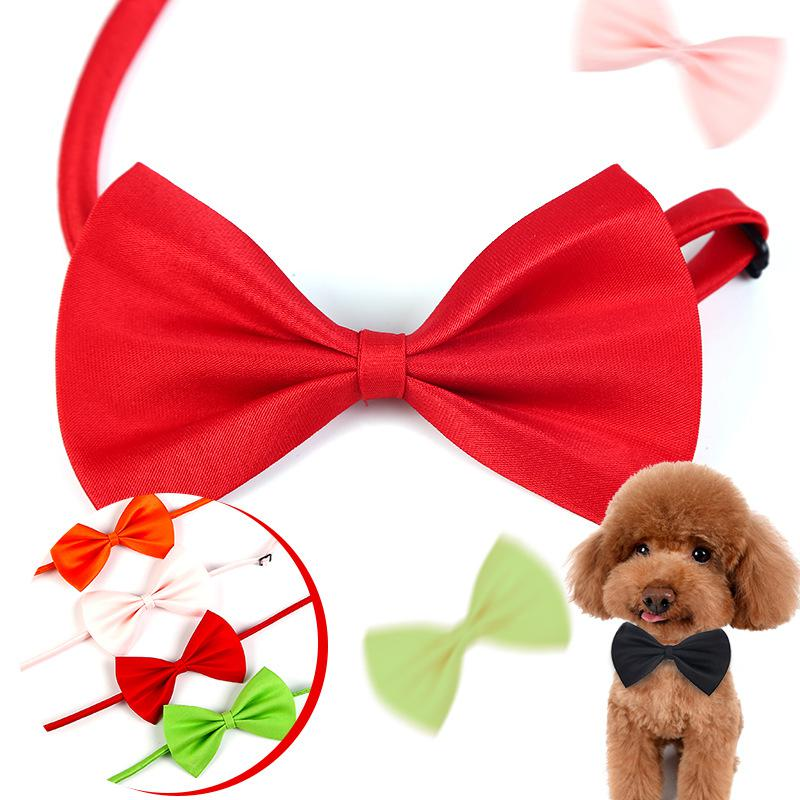 Lovely Pet Dog Cat Bow Tie Necklace Adjustable Strap For Cat Collar Dogs Grooming Accessories Cute Puppy Clothes Pet Supplies