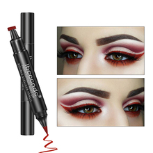 Double-head Liquid Eyeliner Pen Waterproof Colorful Glitter Professional Delineador Easy Coloring Smudgeproof