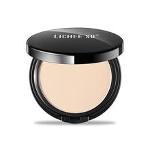 LICHEE SU Silky Press Powder Makeup, Smoothers Setting Powder,Two Way Translucent Light,Long-lasting Finishing Powder Foundation