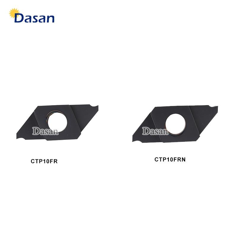 10pcs CTP10FR CTPA15FR CTPA20FR CTPA15FRN CNC Lathe CTPSL Tool Small Parts Cut-Off Processing Tungsten Carbide Inserts
