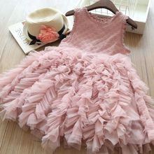 Girl Dress 2019 Kids Baby Girls Flower Dress Summer New Lace Tutu Party Gown Pageant Prom Princess Tulle Dress Sundress 2-6Y pudcoco princess girls summer dress kids baby girls striped lace tulle dress blue sleeveless clothes toddler girl sundress new