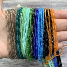 1 Strand 1mm/2mm Small Crystal Rondelle Beads Seed Spacer Little for Jewelry Making Diy wholesale