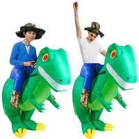 New Inflatable Dinosaur Costumes Riding T REX Blow Up Fancy Dress t rex Mascot Cosplay Halloween Costume For Adult Kid