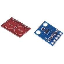 2Pcs Ttp223 Capacitive Press Switch Button Self-Lock Module & 1Pcs Bh1750Fvi Digital Light Intensity Sensor Module