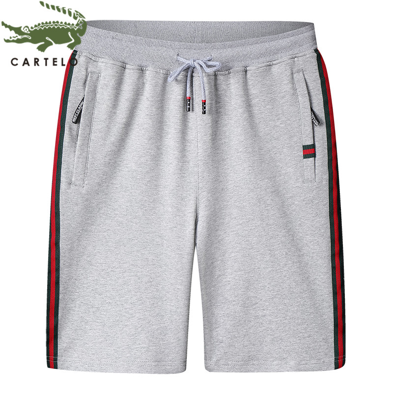 CARTELO Men's Clothing Summer New Fashion Simple Breathable Comfortable Cotton Lace Casual Men's Shorts