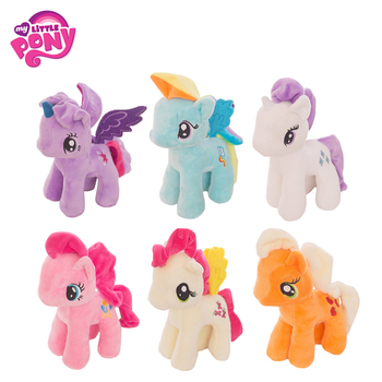 Original My Little Pony 20cm Animal Stuffed Plush Toys Cartoon Colorful Rainbow Unicorn Cute Pony Doll Kids Xmas Gift Girl my little pony 22cm toy stuffed pony toy doll pinkie pie rainbow dash movie