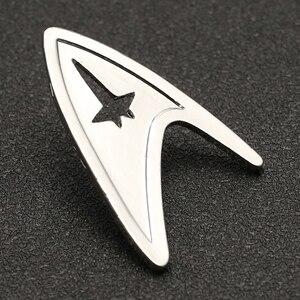 Image 4 - Звездная брошь трек Pin TMP, изображение Admiral Command, знак серебряного цвета, модная новинка, популярные украшения для фильмов, для мужчин и женщин, оптовая продажа