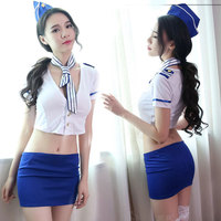 Sexy underwear passion suits stewardess uniforms tempt couples sex role playing sexy flirting navy wholesale