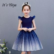 Женское платье принцессы it's yiiya голубое Элегантное без