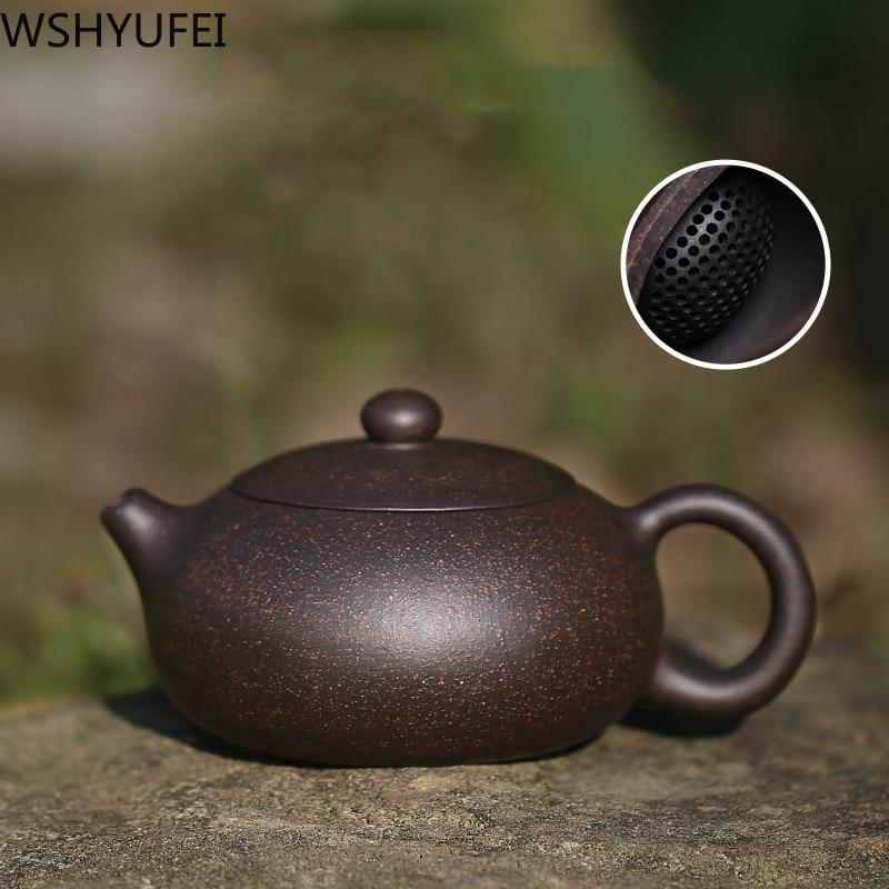 WSHYUFEI Chinese Yixing Purple Clay Teapot Raw Ore Handmade Xi Shi Tea Pot Tea Set Household Kettle 188 Ball Hole Filter 200ml