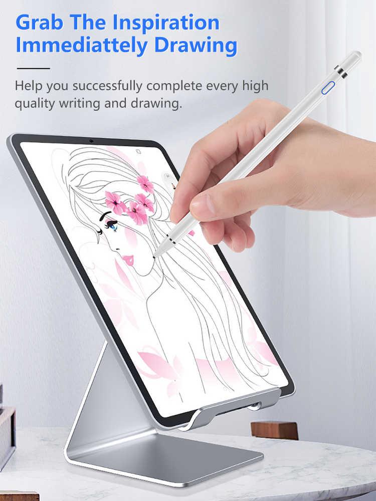 Activo Stylus Touch Pen para iPad de Apple Pro 11 12,9, 10,5, 9,7, 2017, 2018 tablet touch pen para iPad 10,2 mini 5 4 tableta amortiguador Tech accesorio beige Rojo Negro compruebe Tartan tableta amortiguador
