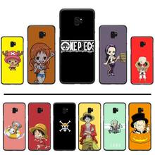 Anime One Piece Luffy Black TPU Soft Phone Case Cover For Samsung Galaxy S5 S6 S7 S8 S9 S10 S10e S20 edge plus lite p232 triangle black silicone case cover for samsung galaxy s5 s6 s7 s8 s9 s10 s10e lite edge plus