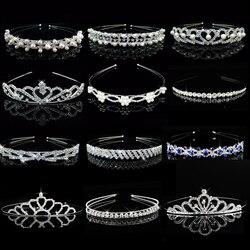 Princess Wedding Bridal Bridesmaid Tiara Crown Headband Girls Crystal Rhinestone Jewelry hair Accessories Bride Head Ornament
