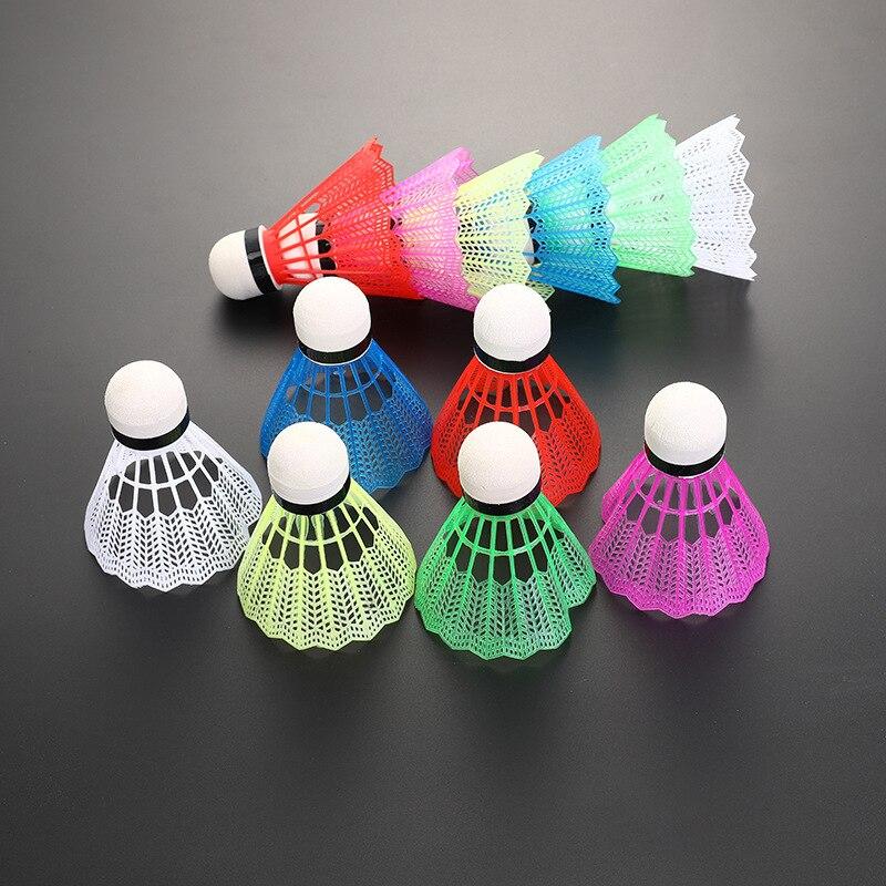 12 pçs conjunto bolas de badminton peteca colorido pc náilon bolas de  badminton ao ar livre esporte ginásio de fitness cabeça espuma peteca  bolas| | - AliExpress