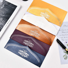 10Pcs/set Cute Elegant business greeting Card Birthday blessing card Hot stamping envelope With