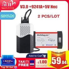 2PCS CDP TCS pro plus V3.0 Green board TCS CDP Bluetooth 2015 R3 with keygen for CAR/TRUCK obd2 Diagnostic Tool as Multidiag MVD