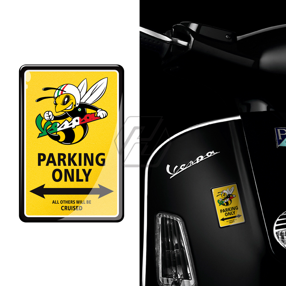 3D Resin Motorcycle Sticker Case For PIAGGIO Vespa Scooter 150 Gts300 LX150 GTS LXV LIVE Sprint Spring 50 125 Of 250 300 GTS3