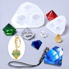 1 adet/grup elmas küçük kolye silikon kalıp reçine DIY el sanatları epoksi takı yapımı için takı araçları reçine kalıp