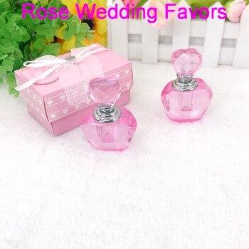 (20pcs/Lot)FREE SHIPPING+Pink Crystal Perfume Bottle Wedding&Bridal Shower Favors