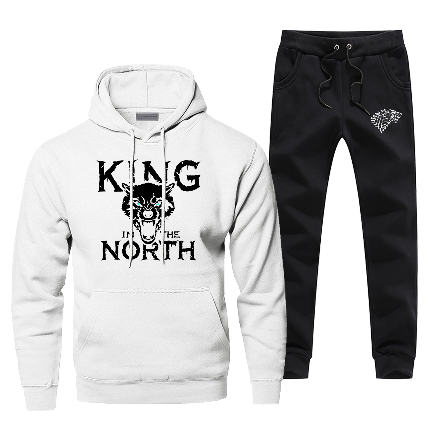 Game Of Thrones Men's Full Suit Tracksuit King In The Nroth Fashion Casual Sportsman Wear Bodywarmer House Stark Sweatpants