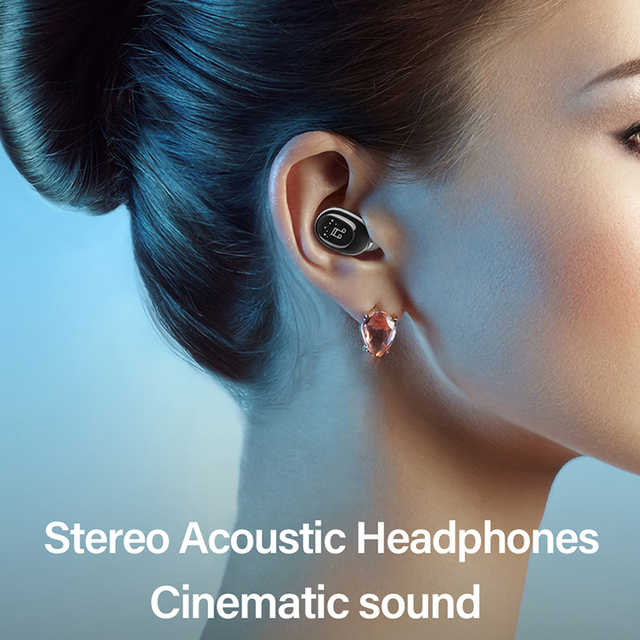 2021 Invisible Ture Wireless Earphone Noise Cancelling Bluetooth Headphone Handsfree Stereo Headset TWS Earbud With Microphone 6