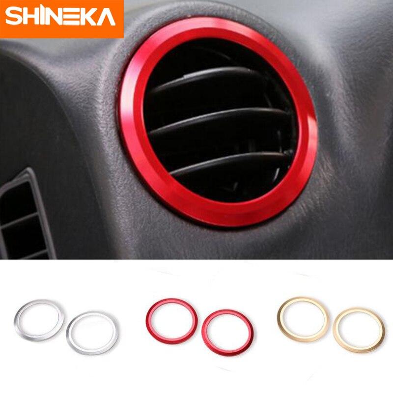 SHINEKA alliage d'aluminium prise de courant alternatif garniture de couverture climatisation décoratif anneau cadre autocollant pour Suzuki Jimny voiture style